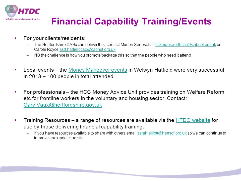 Financial Capability Training/Events