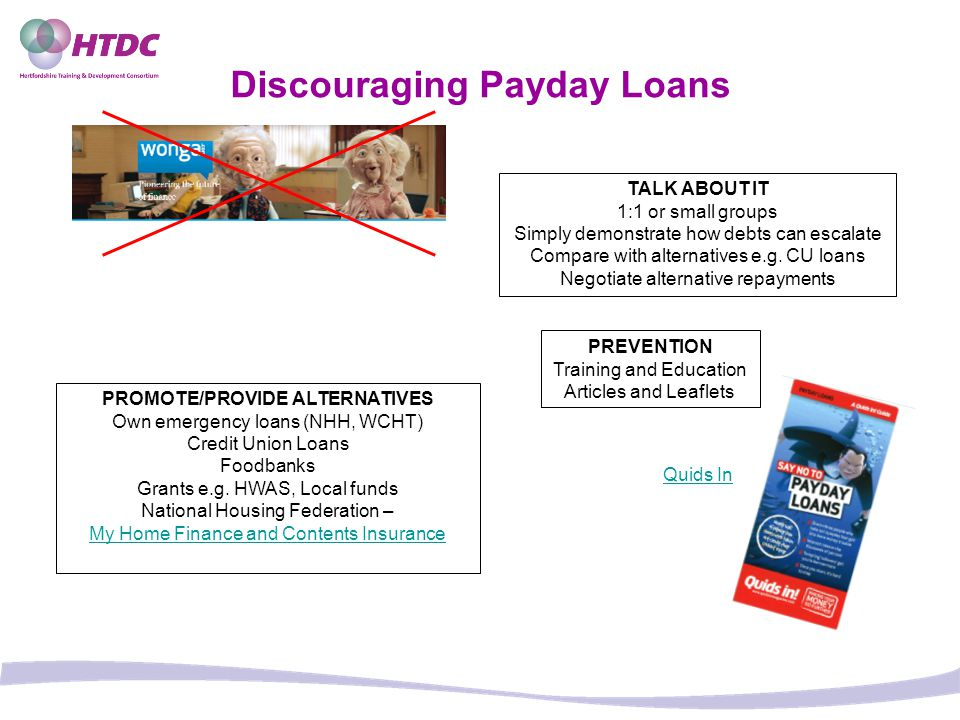 Discouraging Payday Loans