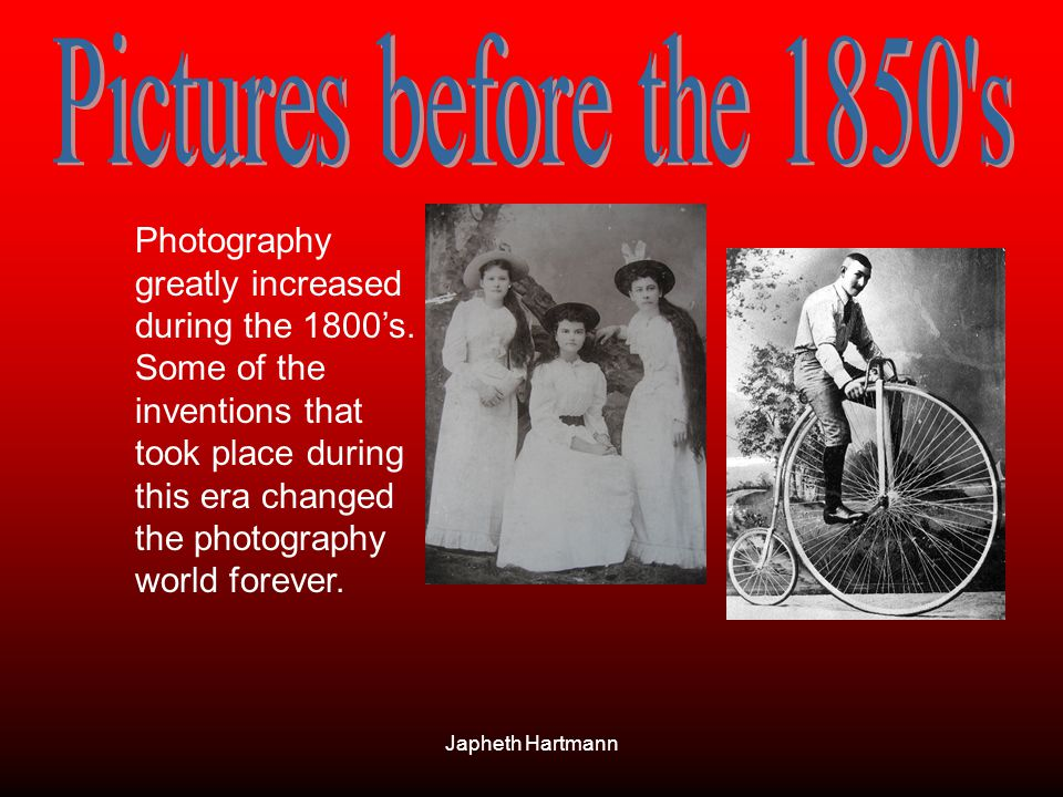 Pictures before the 1850 s