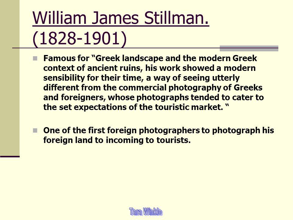 William James Stillman. (1828-1901)