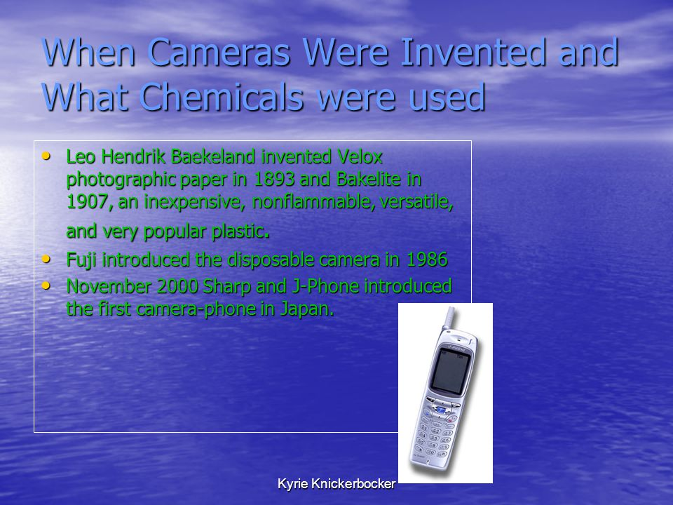When Cameras Were Invented and What Chemicals were used
