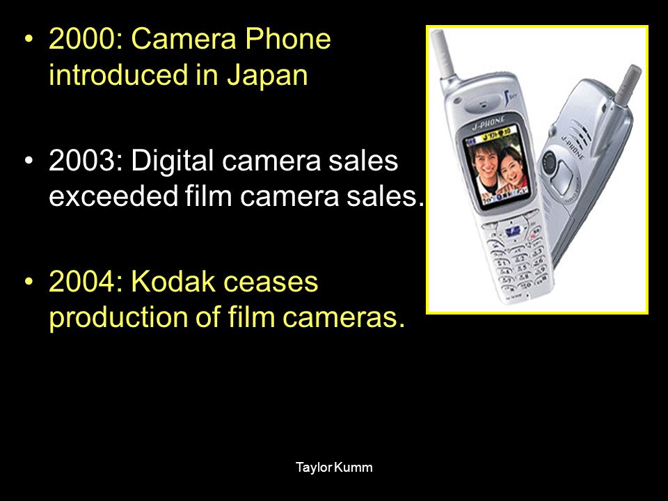 2000: Camera Phone introduced in Japan