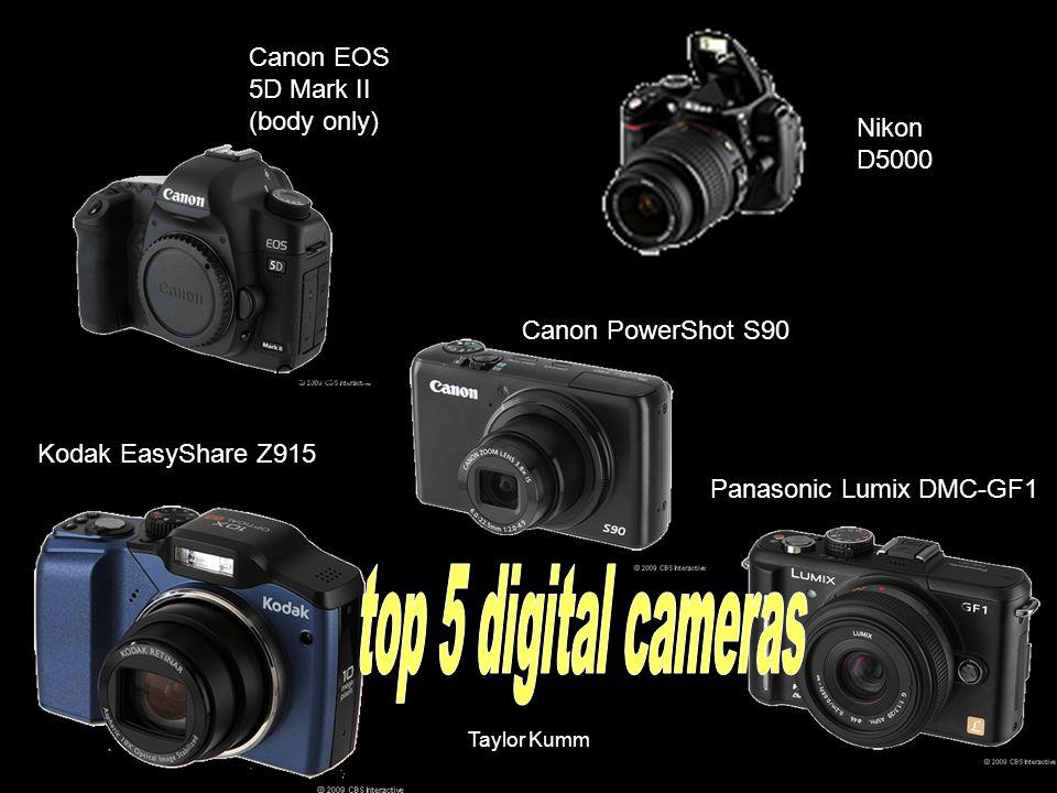 top 5 digital cameras Canon EOS 5D Mark II (body only) Nikon D5000