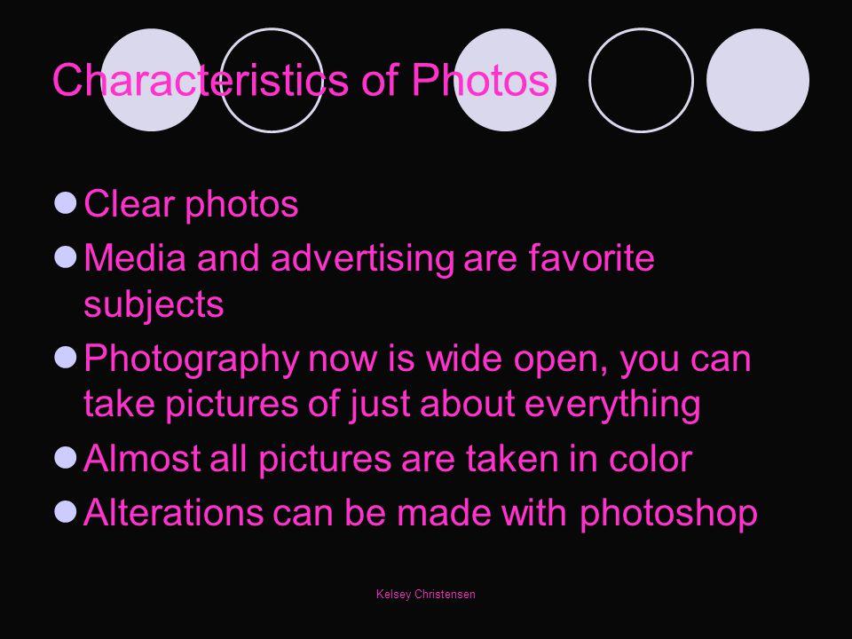Characteristics of Photos