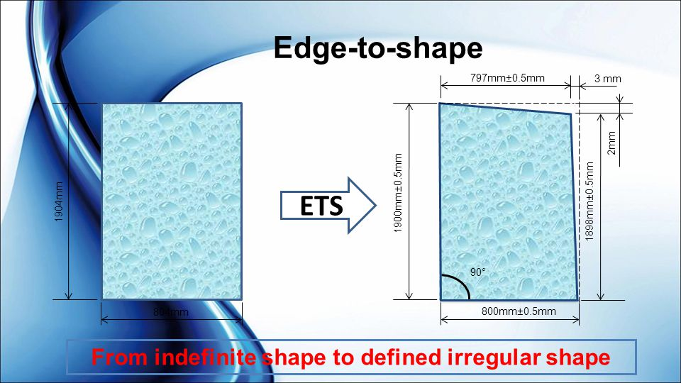 From indefinite shape to defined irregular shape
