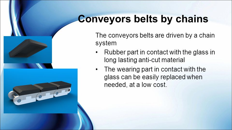 Conveyors belts by chains