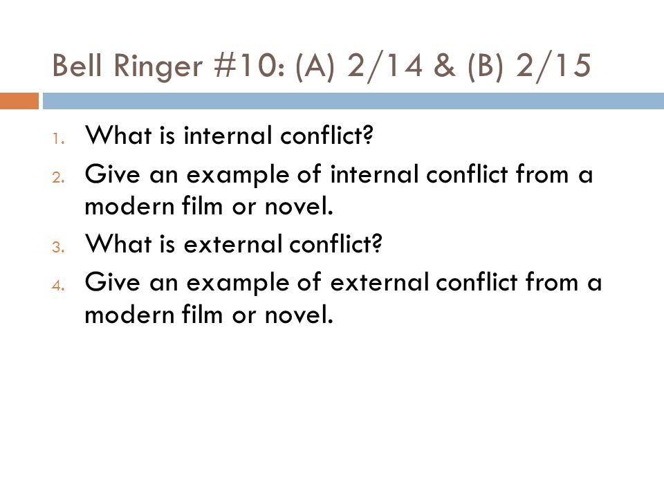 Bell Ringer #10: (A) 2/14 & (B) 2/15