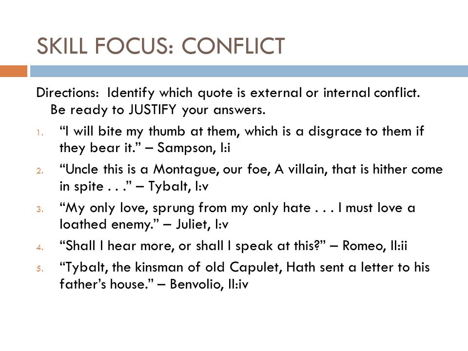 What is the conflict in romeo and Juliet in act 3 scene 5?