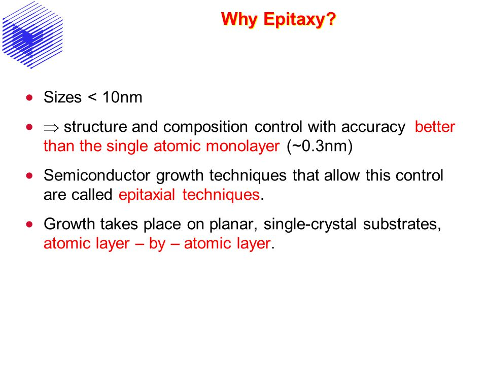 Why Epitaxy Sizes < 10nm