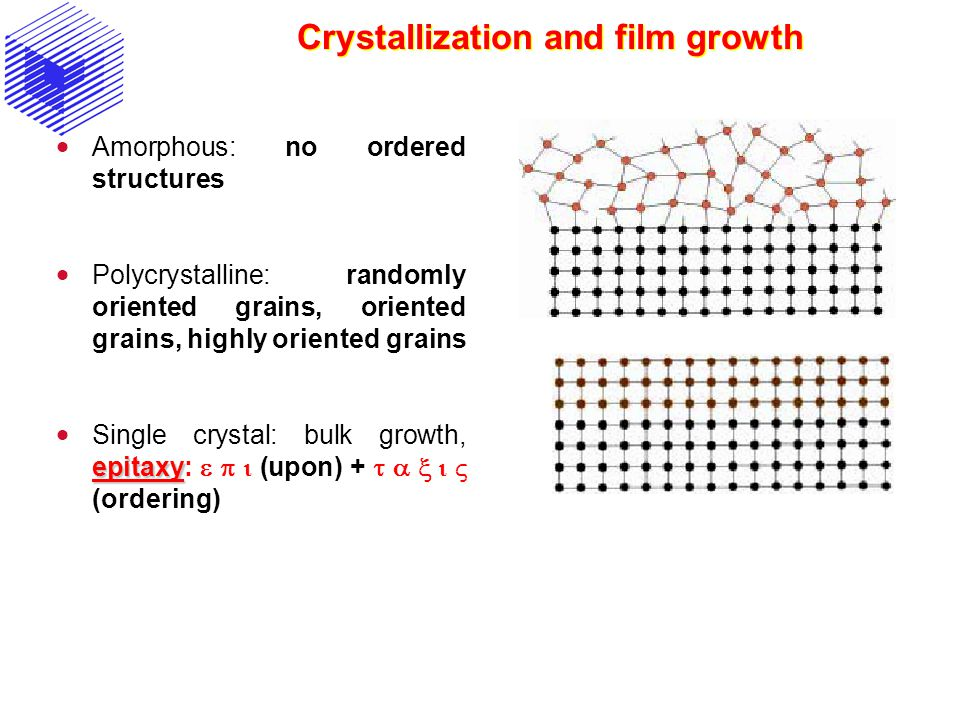 Crystallization and film growth