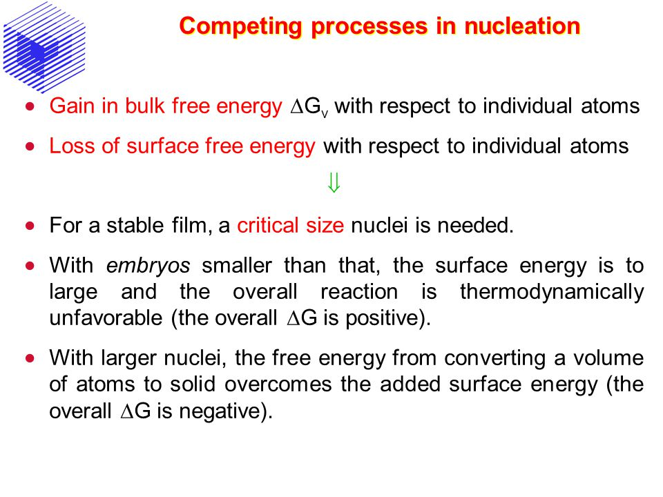 Competing processes in nucleation