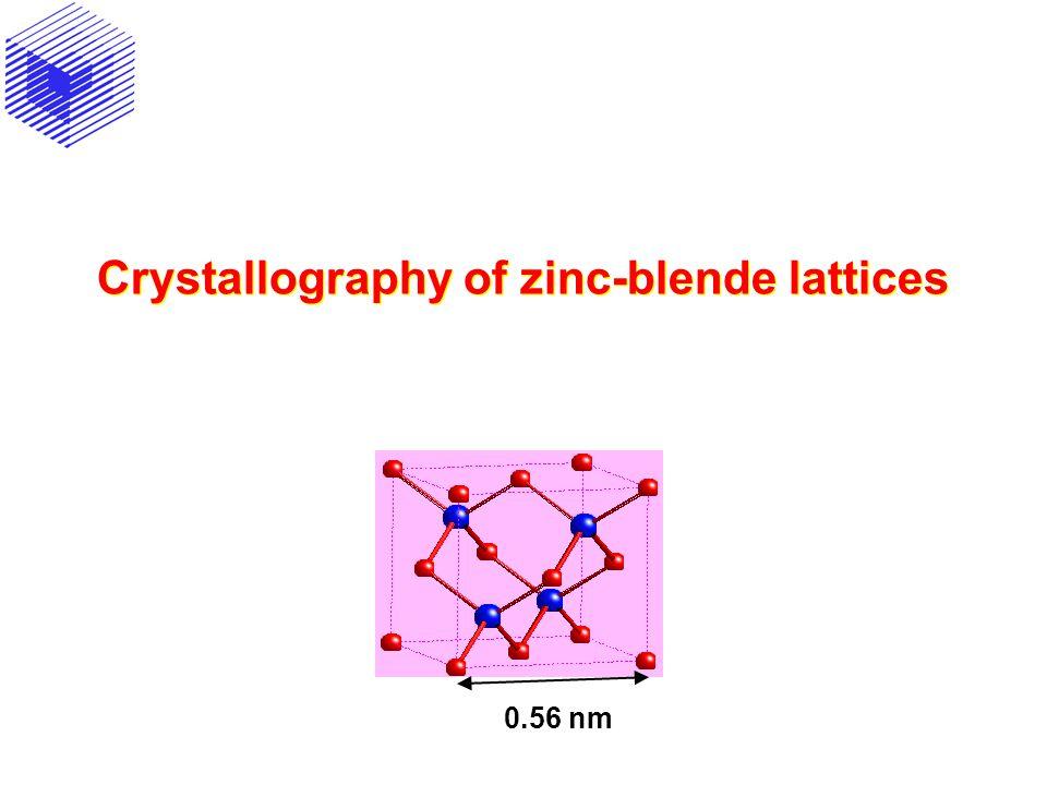 Crystallography of zinc-blende lattices