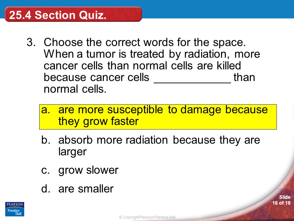 25.4 Section Quiz.