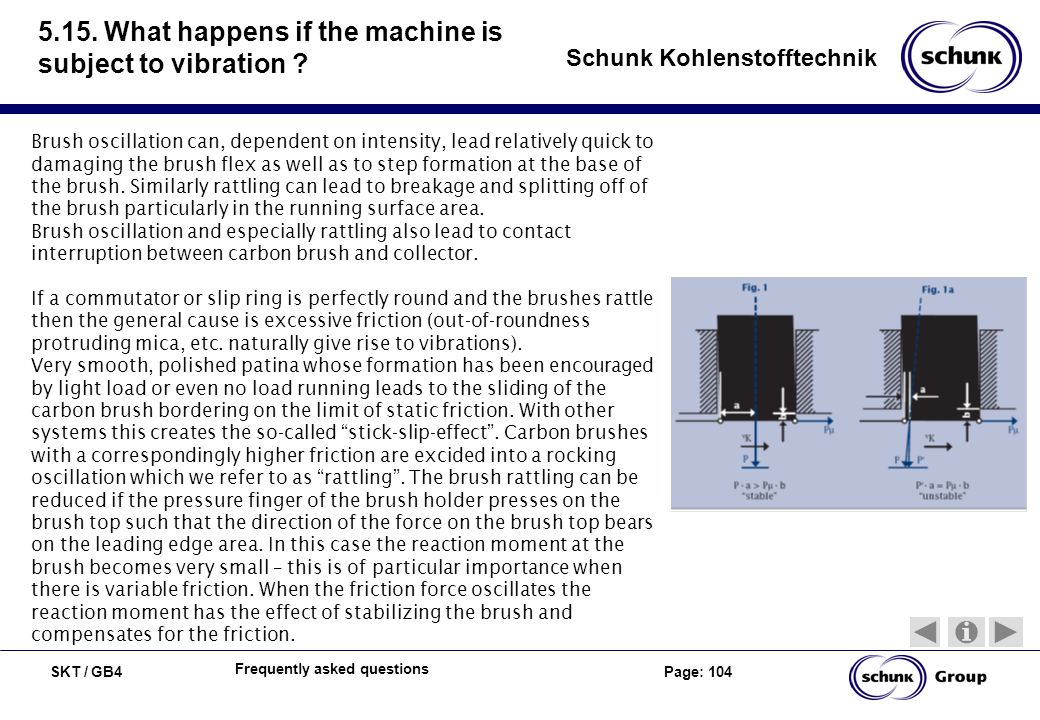 5.15. What happens if the machine is subject to vibration