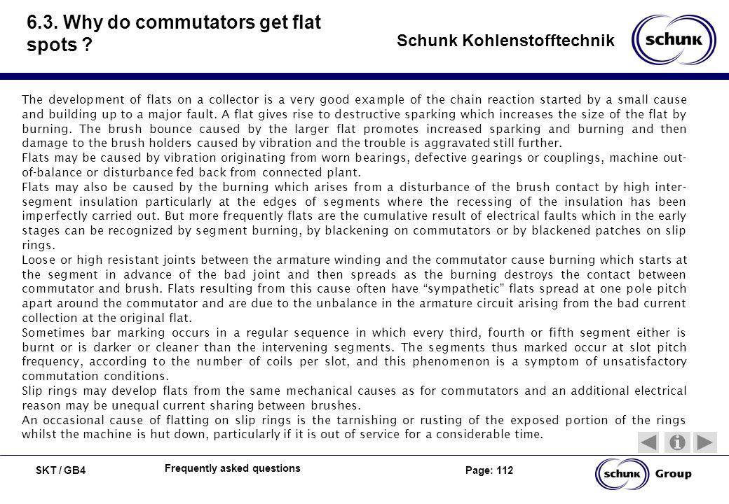 6.3. Why do commutators get flat spots