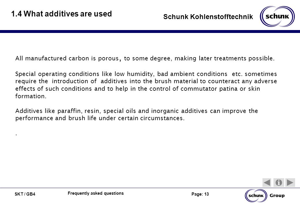 1.4 What additives are used