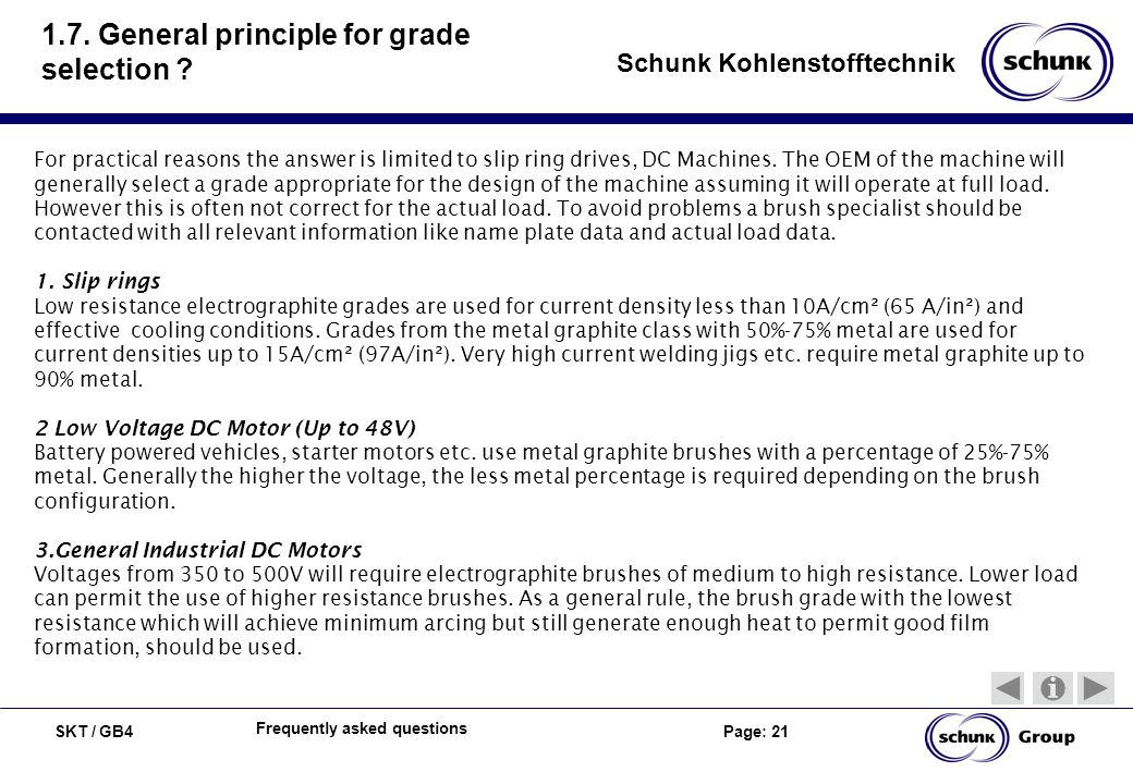 1.7. General principle for grade selection