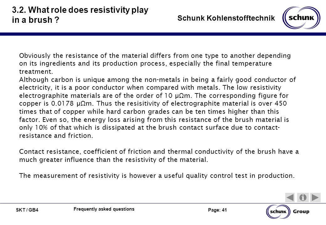 3.2. What role does resistivity play in a brush