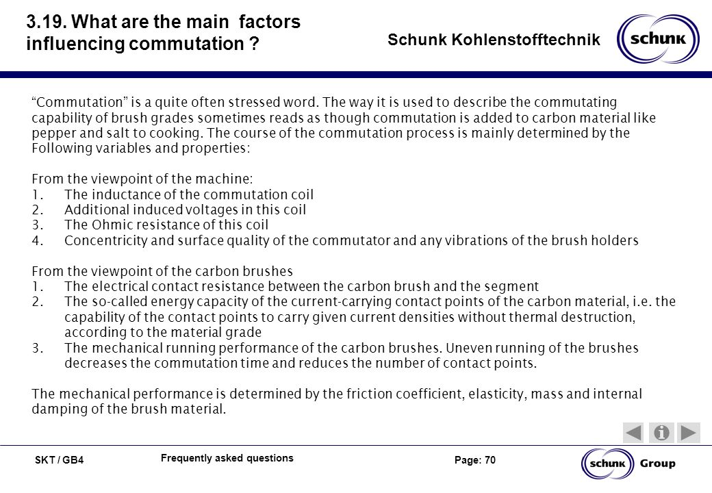 3.19. What are the main factors influencing commutation