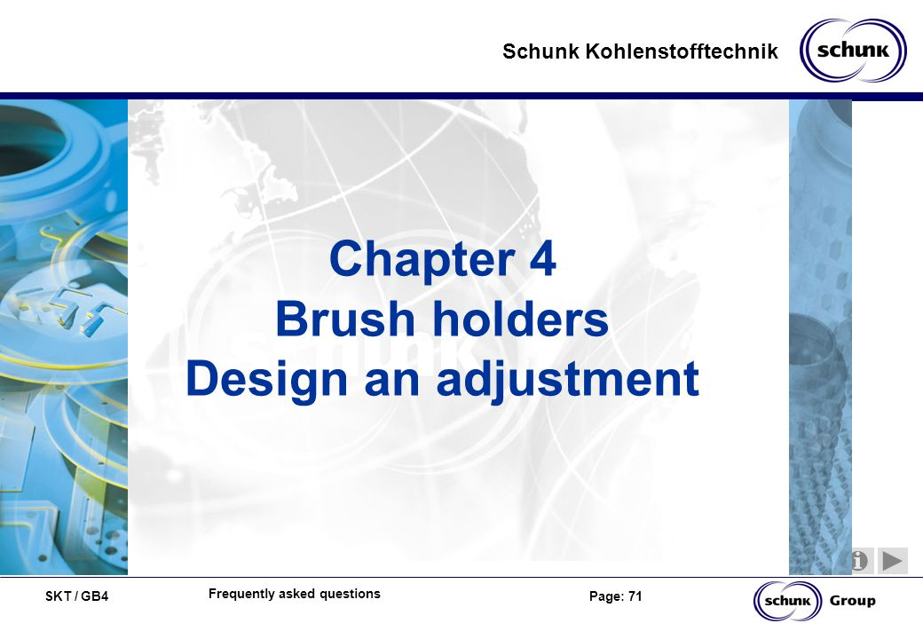 Chapter 4 Brush holders Design an adjustment