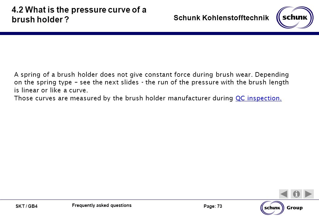 4.2 What is the pressure curve of a brush holder