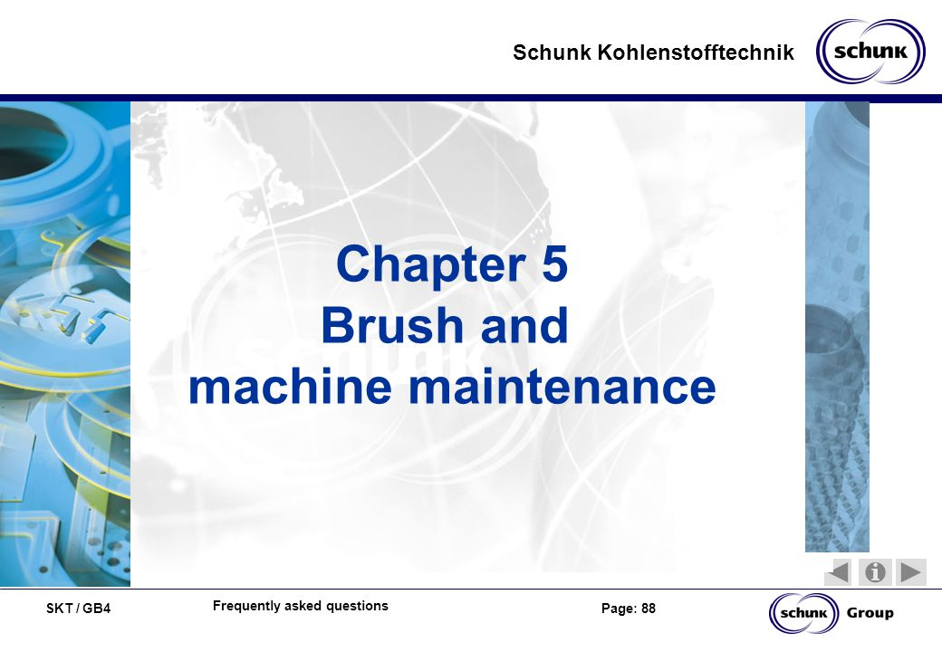 Brush and machine maintenance