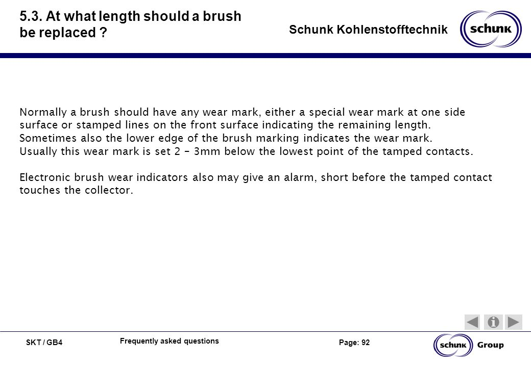 5.3. At what length should a brush be replaced