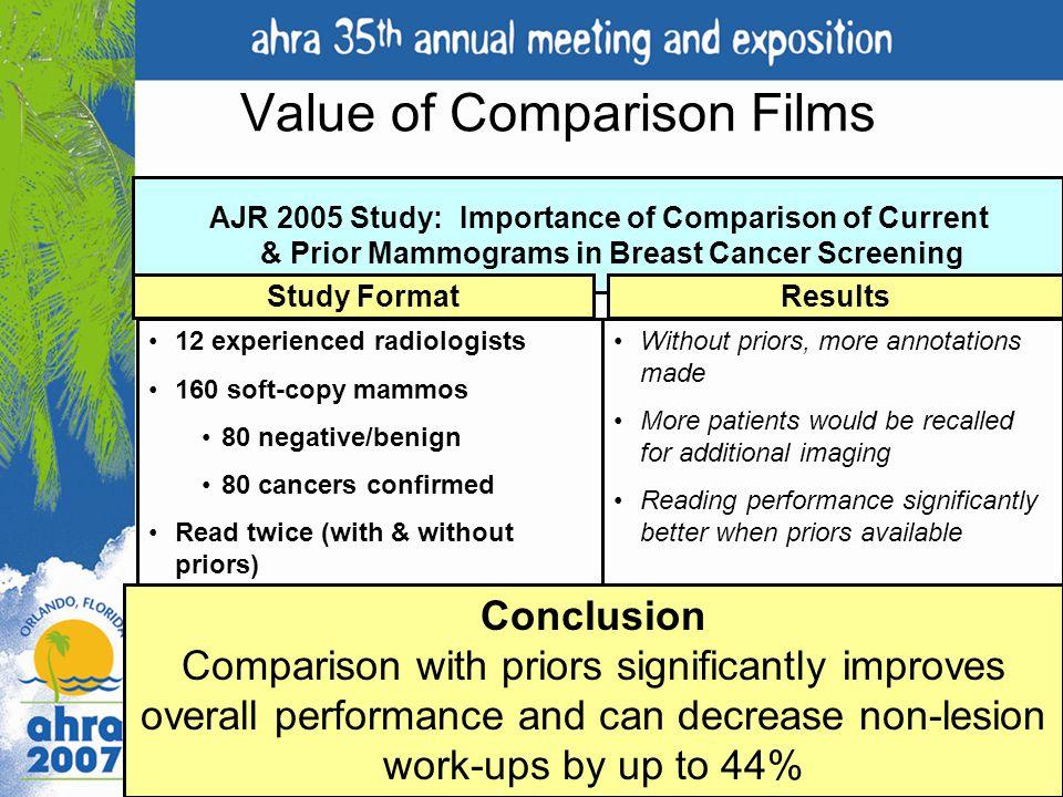 Value of Comparison Films