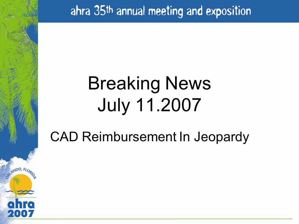 CAD Reimbursement In Jeopardy