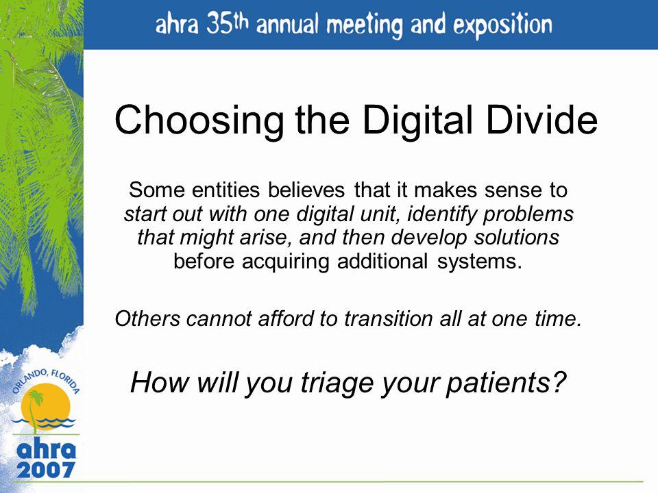 Choosing the Digital Divide