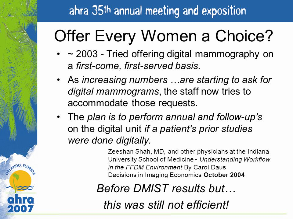 Offer Every Women a Choice