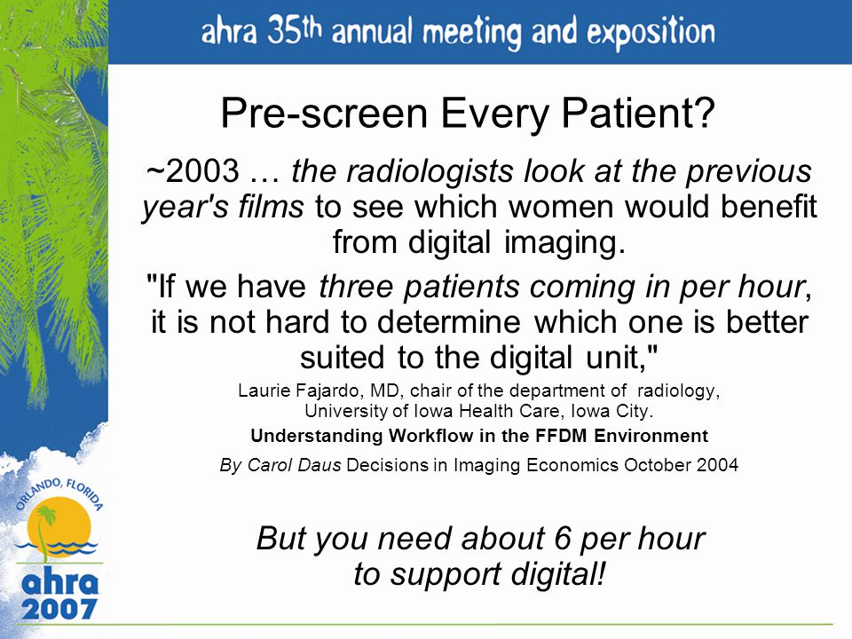Pre-screen Every Patient