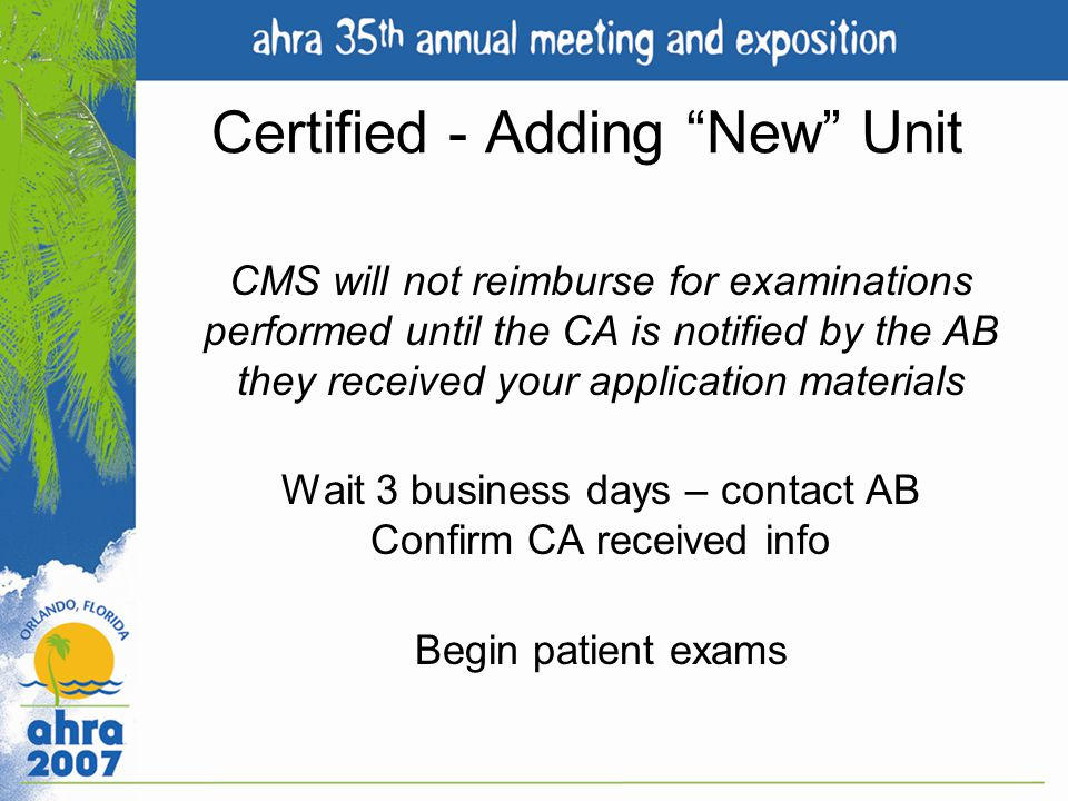 Certified - Adding New Unit
