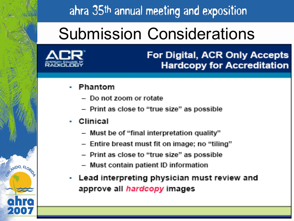 Submission Considerations