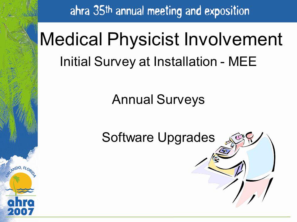 Medical Physicist Involvement