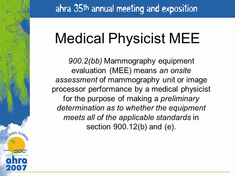 Medical Physicist MEE