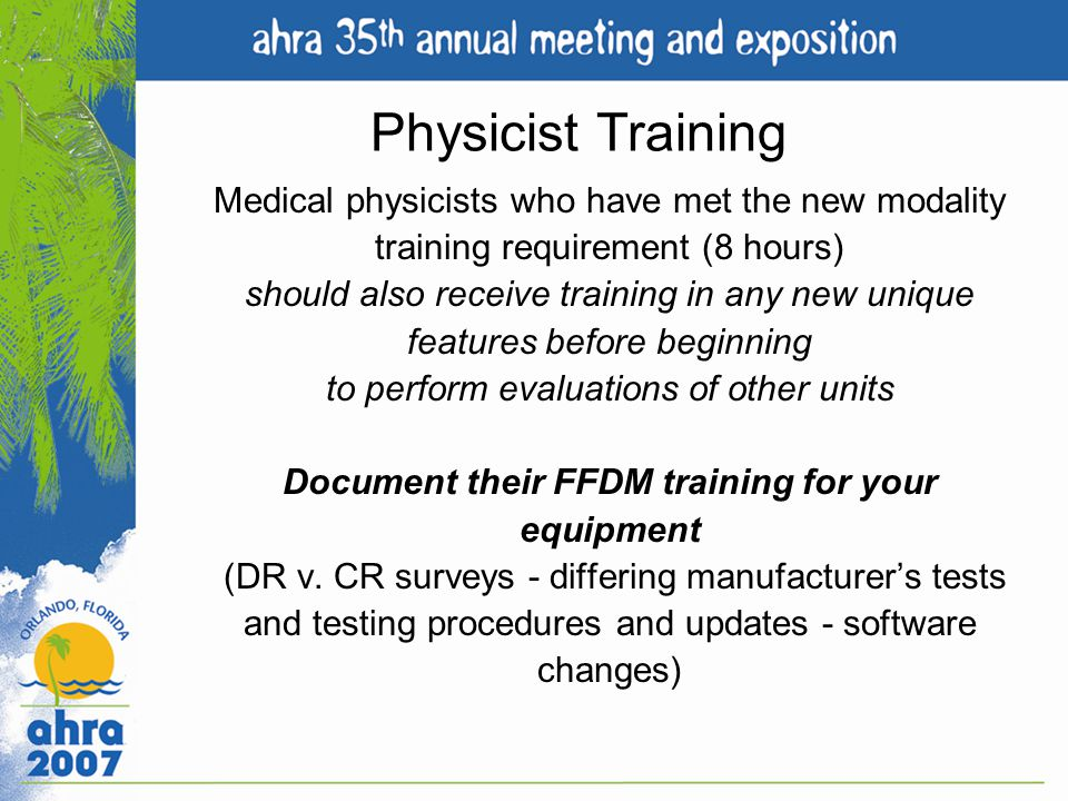 Physicist Training