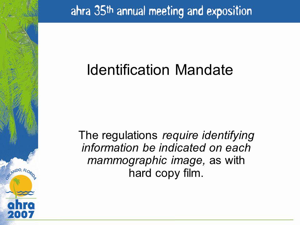 Identification Mandate