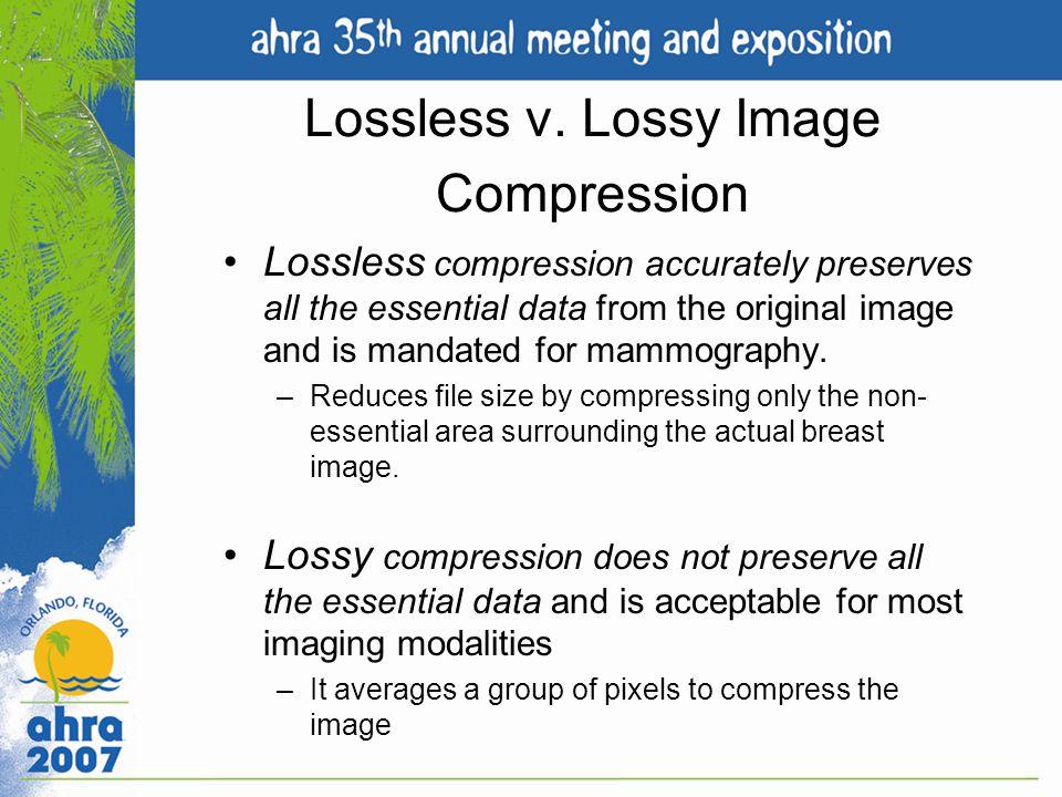 Lossless v. Lossy Image Compression
