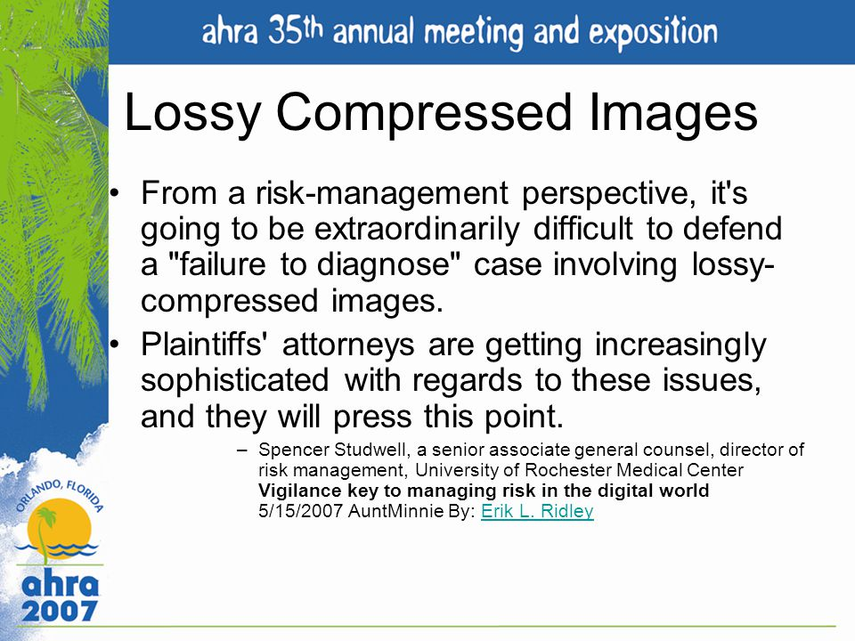 Lossy Compressed Images