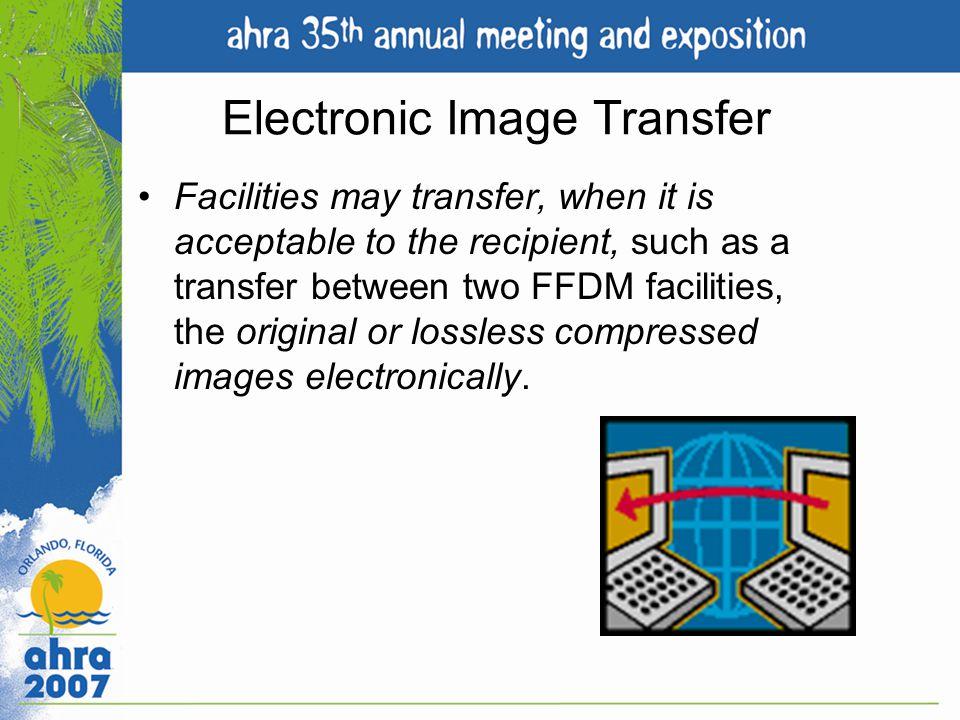 Electronic Image Transfer