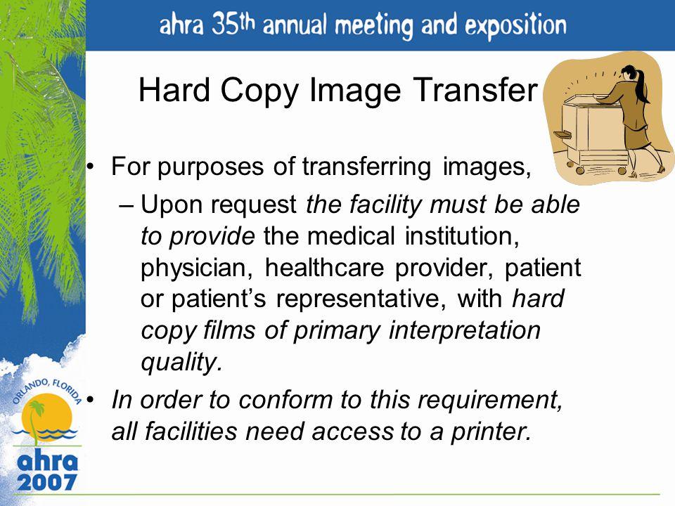 Hard Copy Image Transfer