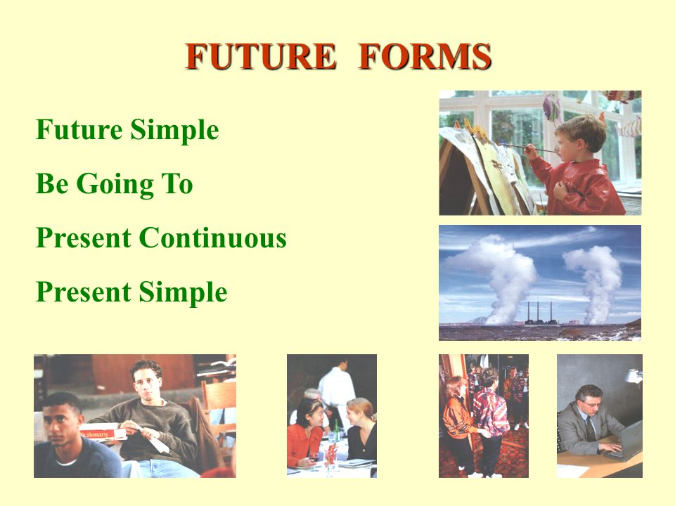 FUTURE FORMS Future Simple Be Going To Present Continuous