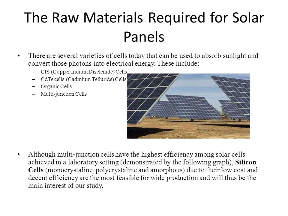The Raw Materials Required for Solar Panels