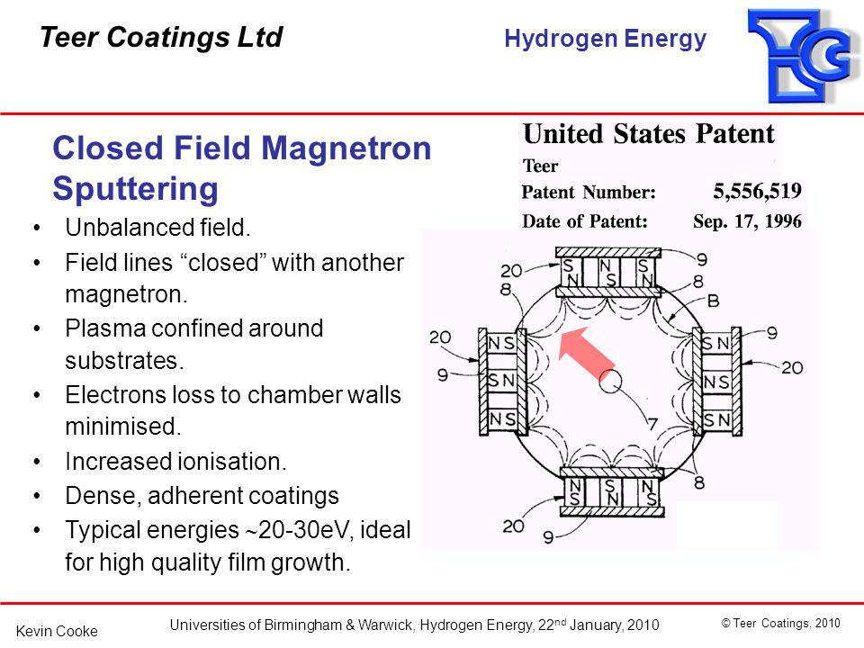 Closed Field Magnetron Sputtering