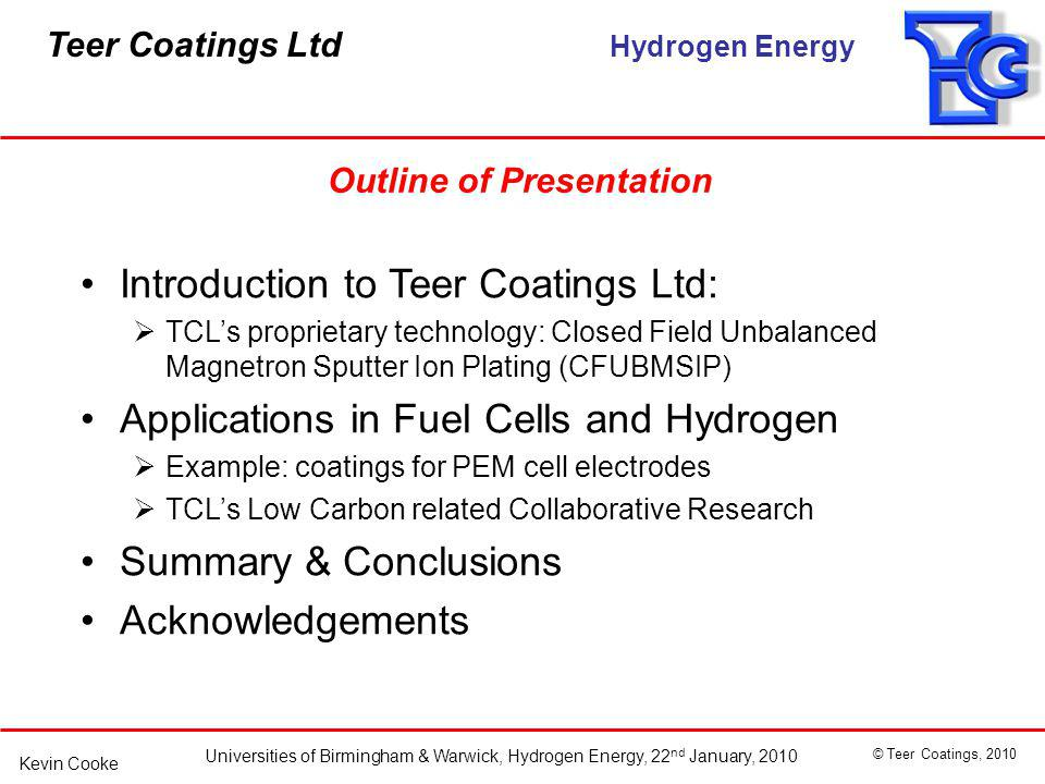 Introduction to Teer Coatings Ltd: