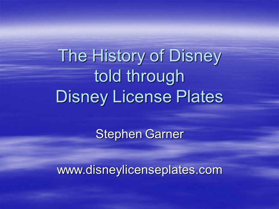 The History of Disney told through Disney License Plates