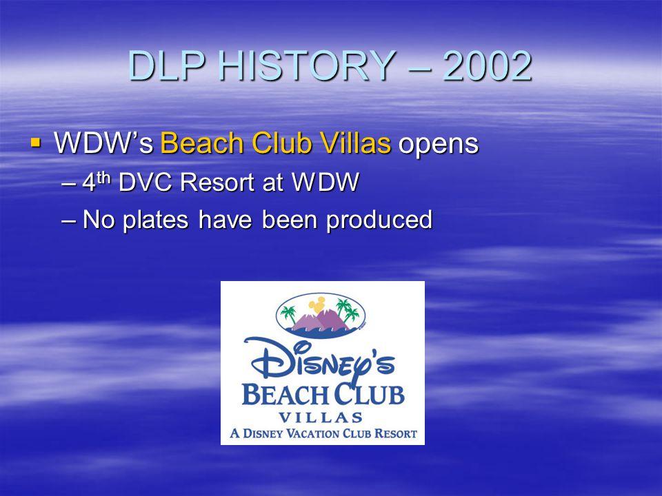 DLP HISTORY – 2002 WDW's Beach Club Villas opens 4th DVC Resort at WDW