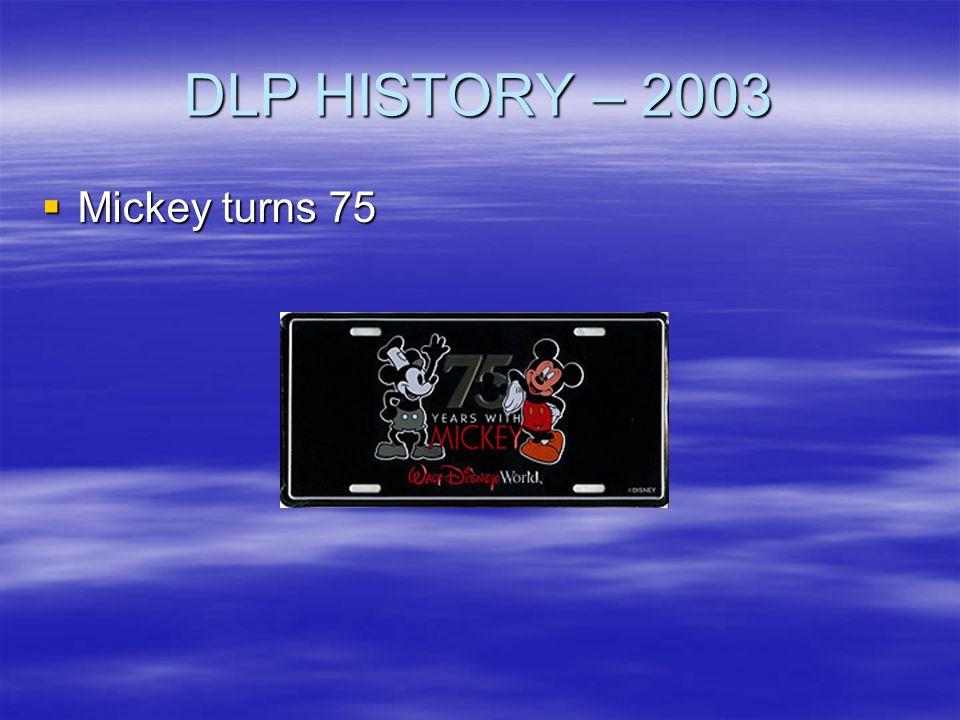 DLP HISTORY – 2003 Mickey turns 75