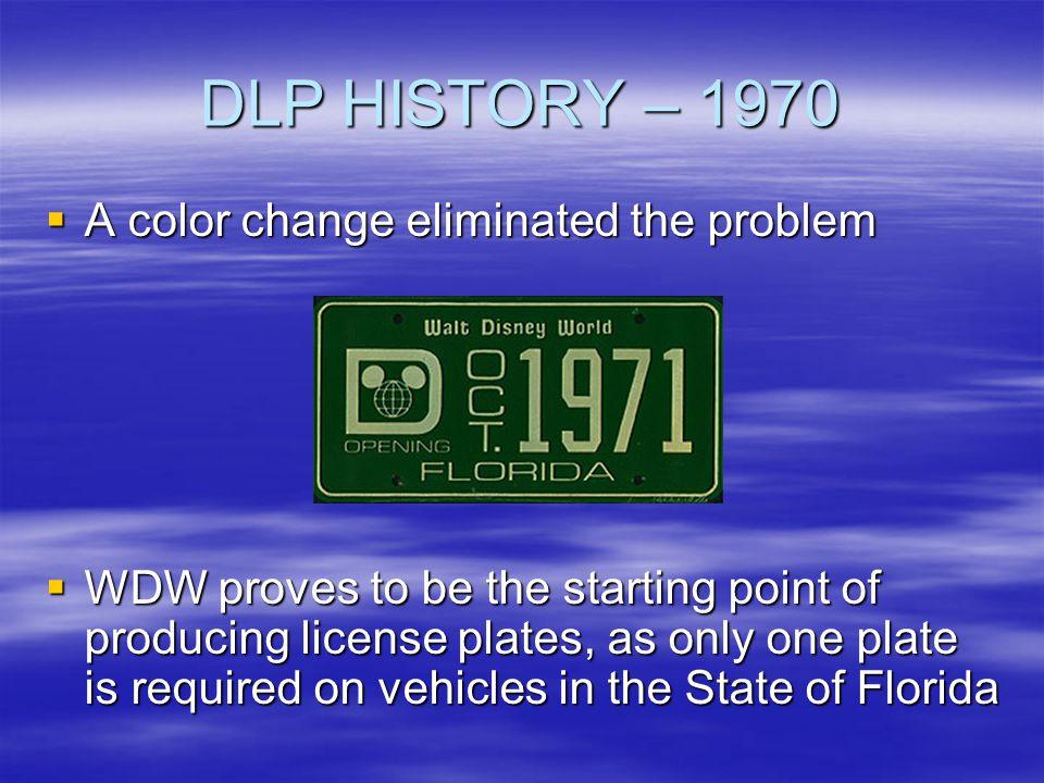 DLP HISTORY – 1970 A color change eliminated the problem